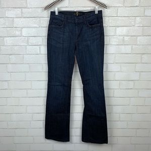 7 For All Mankind Mid Rise Bootcut Jeans 28 S3156